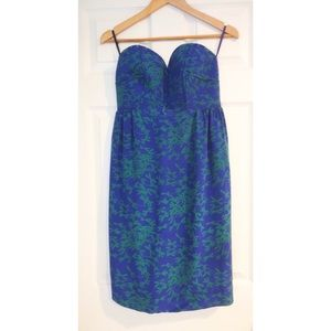 NWT Anthropologie Maple Silk Strapless Dress